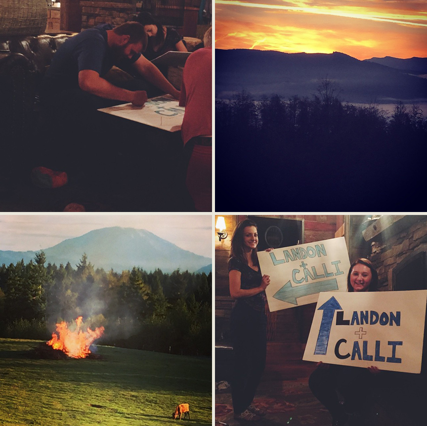 landon and calli wedding week