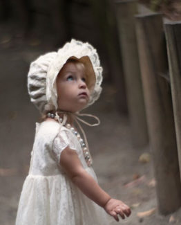 lace bonnet and dress