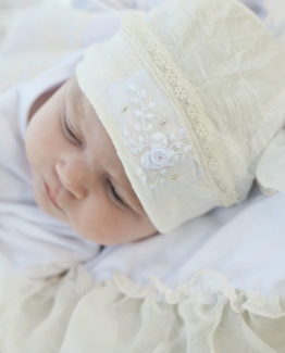 pearl layette hat