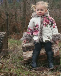 floral fur coat